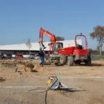 Salle polyvalente : visite du chantier