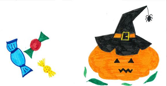 Chasse aux bonbons d'Halloween